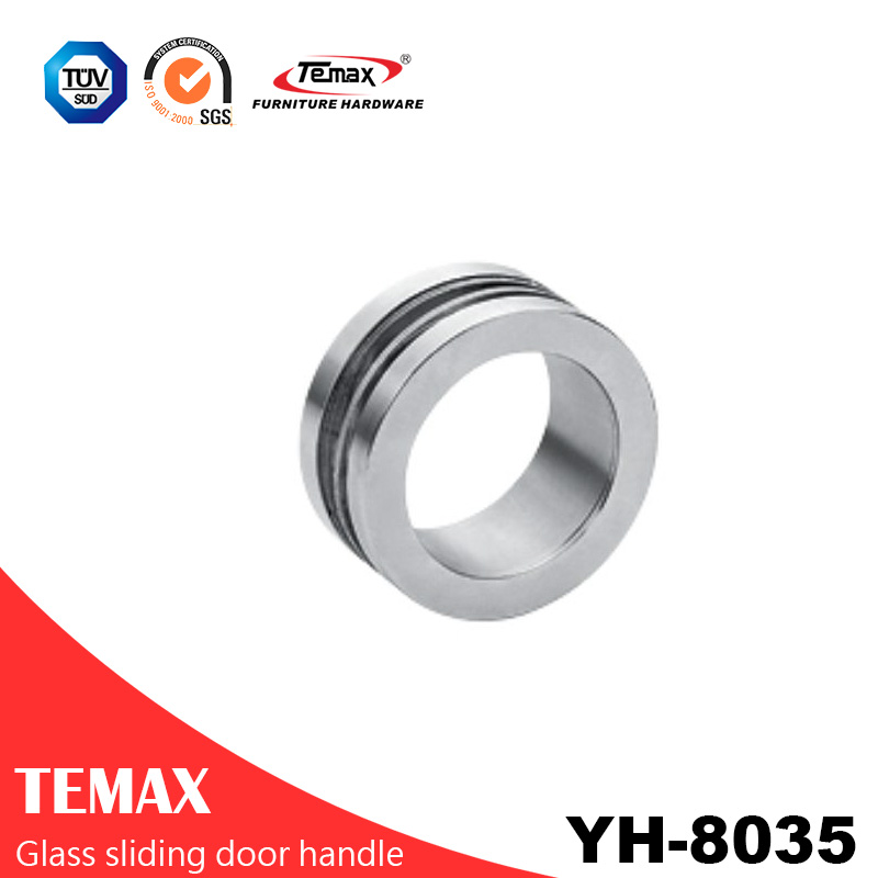 YH-8035 popular metal circle glass sliding door handle