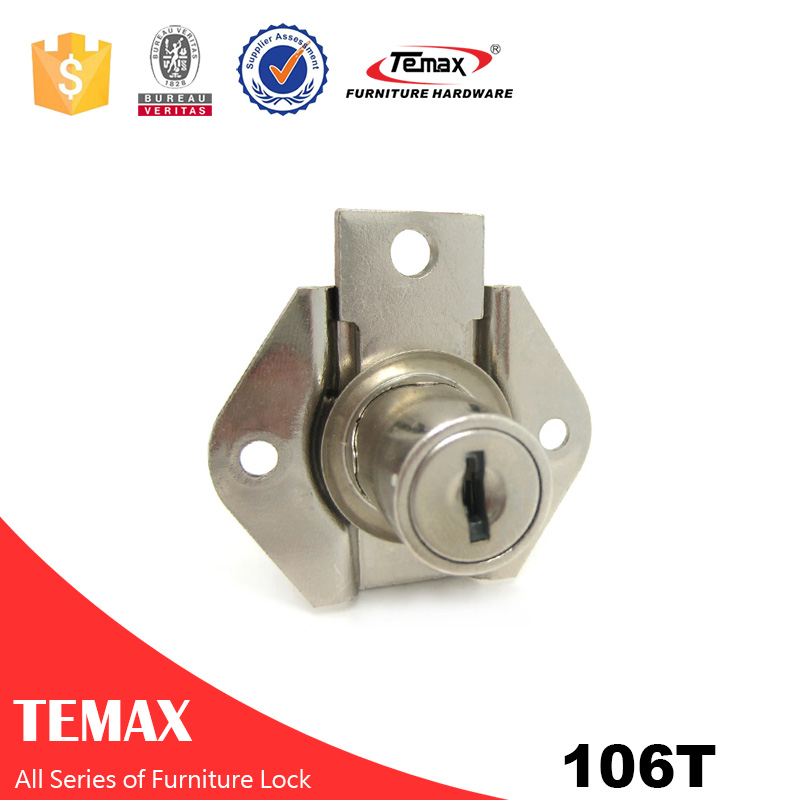 106T zinc alloy drawer filing cabinet lock for furniture fittings