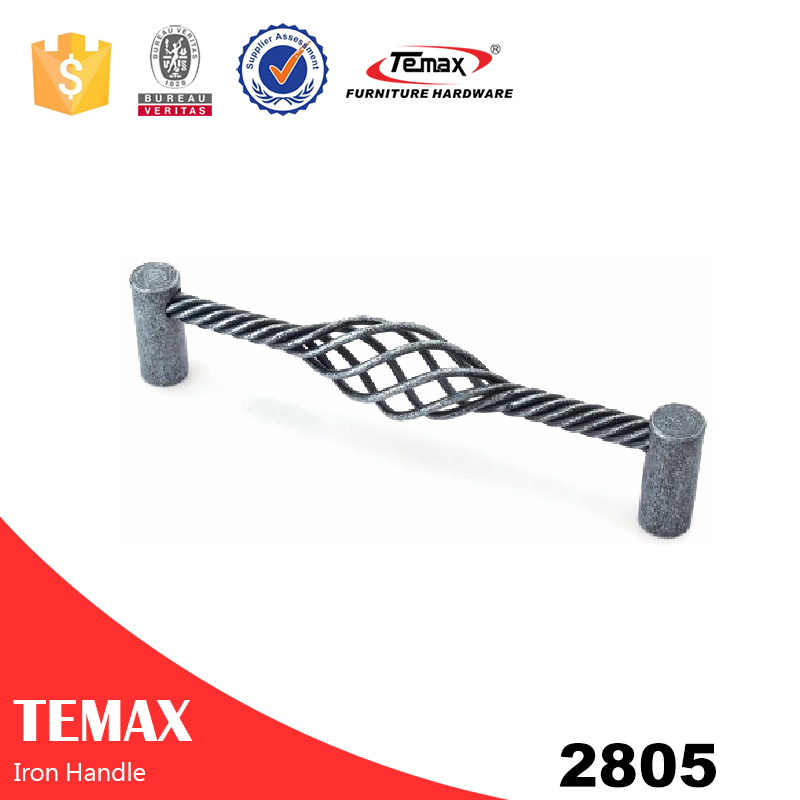 2805 antique iron furniture door handle