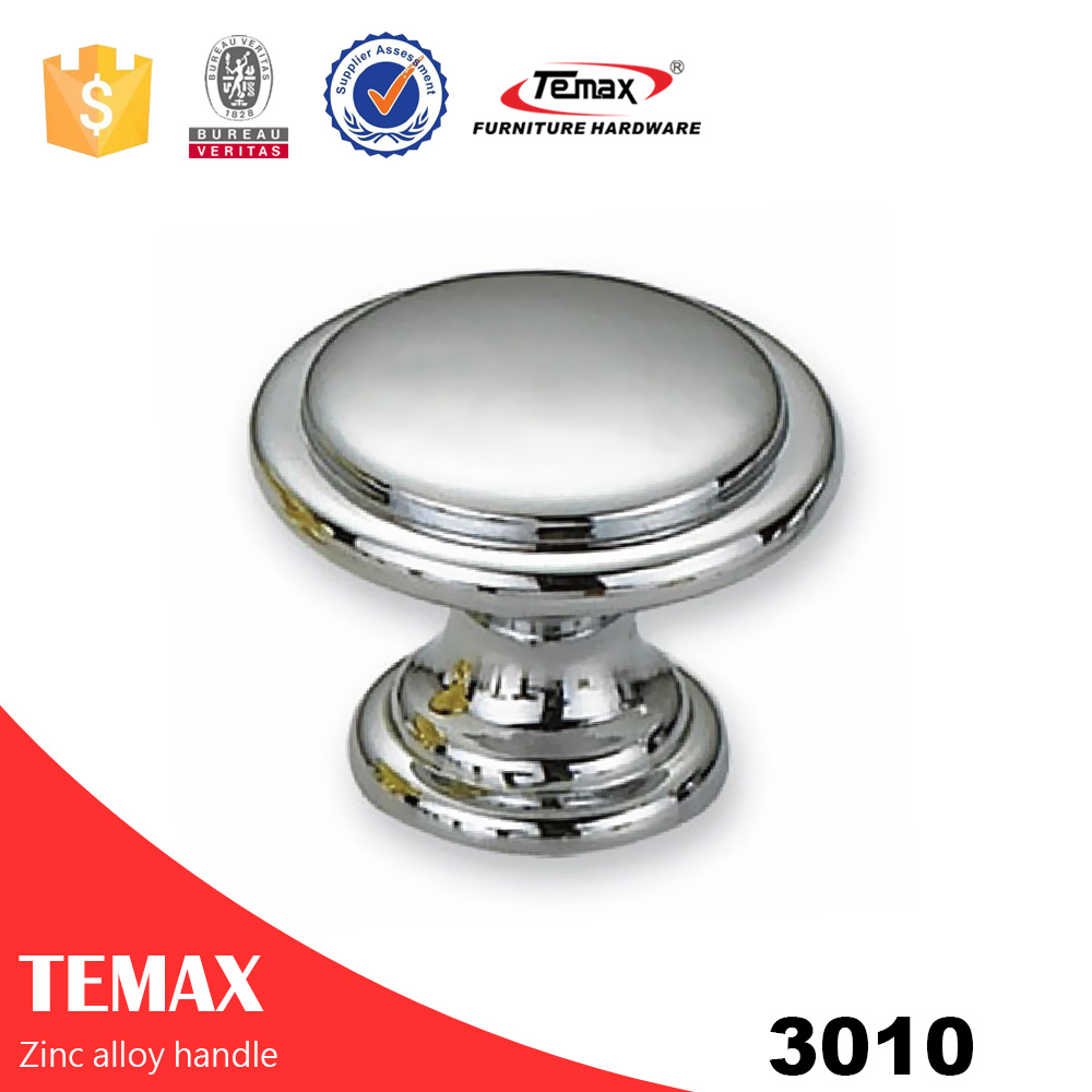 3010 modern furniture chrome metal metal round knob