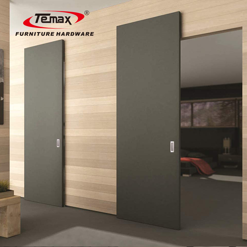 3D Adjustment Magic Wall Mount Soft Closing Concealed Invisible Sliding Door System M973 Temax Hardware