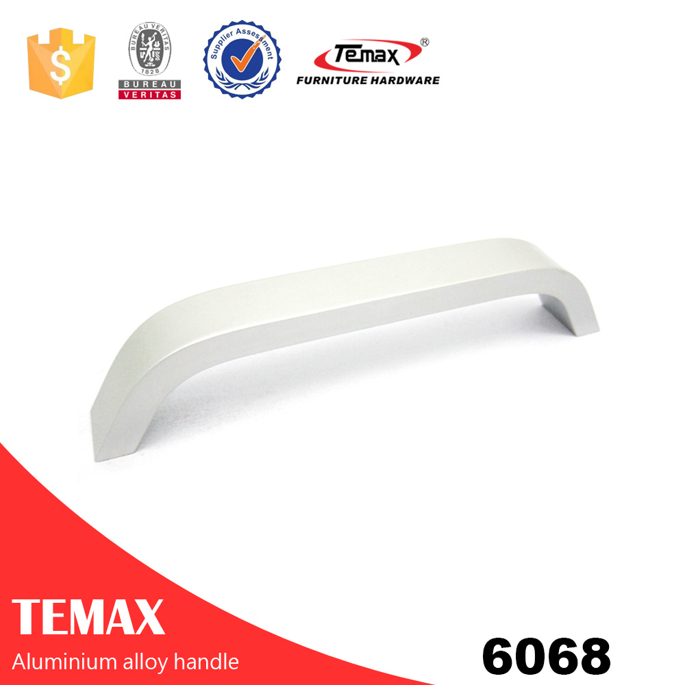 6068 Well made extruded aluminum drawer pull handle supplier