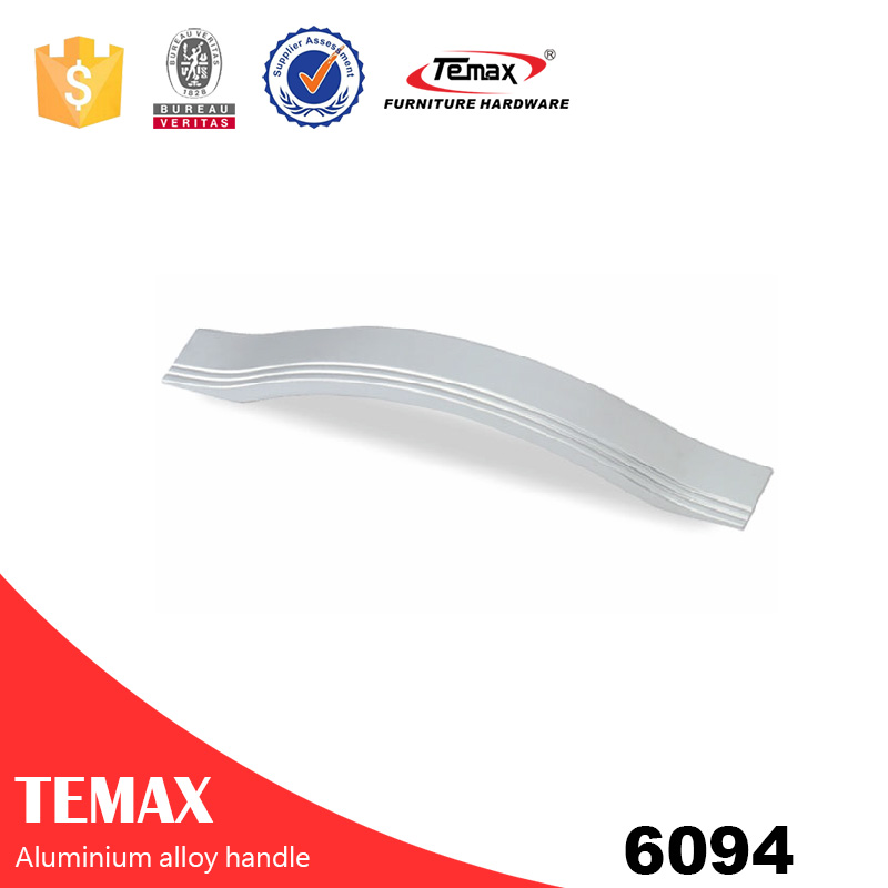 6094 high quality v shape aluminium pull handle
