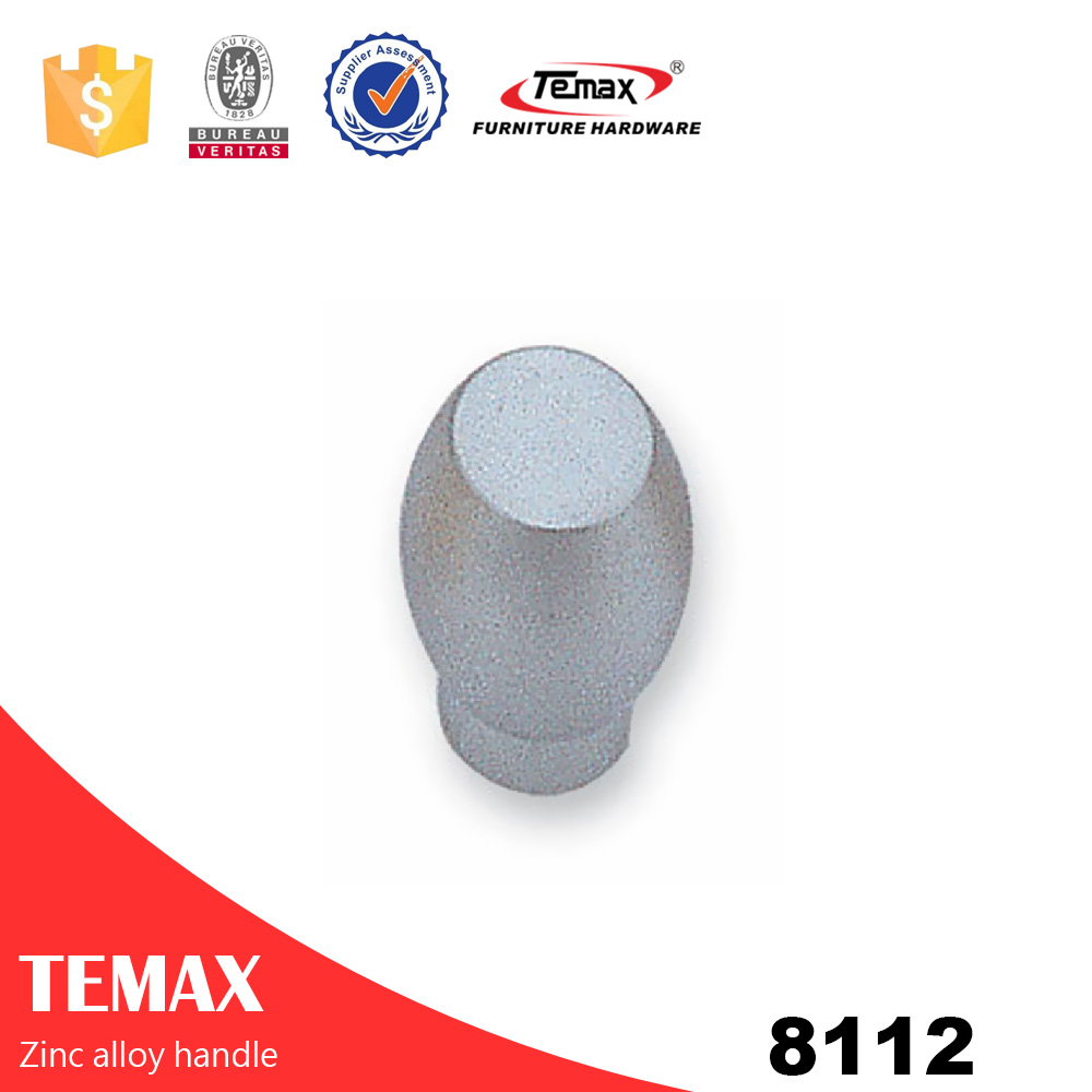 8112 TEMAX zinc alloy cabinet drawer knob,glass sliding door knob