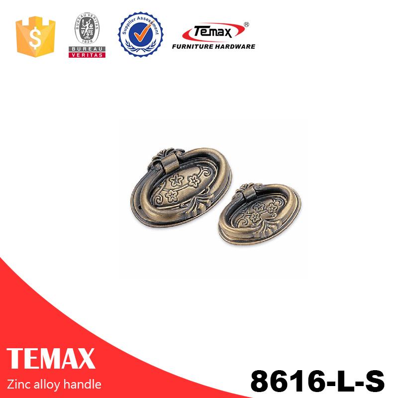 8616-Perillas de aleación de zinc de moda L-S de Temax