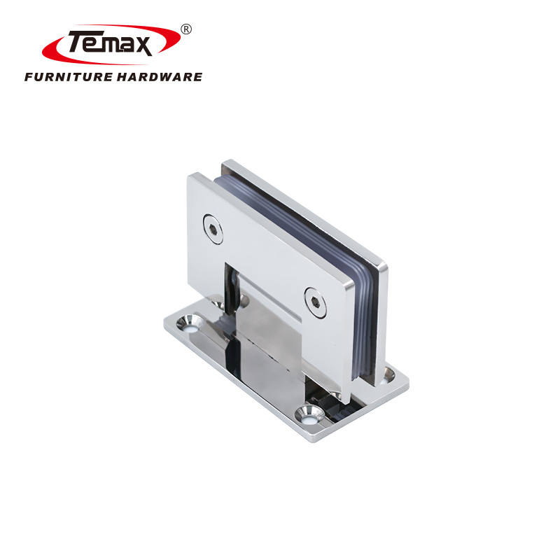 90 degree stainless steel glass shower clamp hinge for bathroom