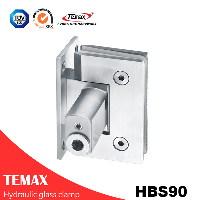 Soft Closing Stainless Steel Bathroom Clamp 90 Degree