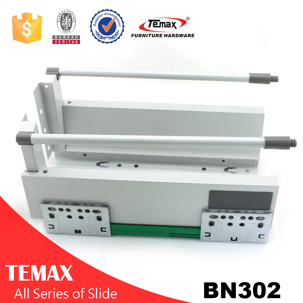 Metal box drawer rail drawer pumping slide