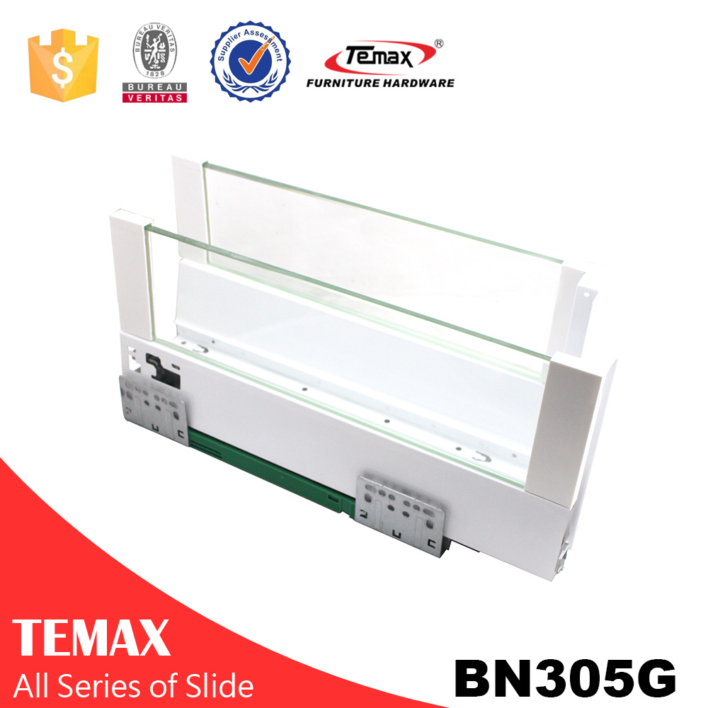 BN305G Soft Close glass metal box