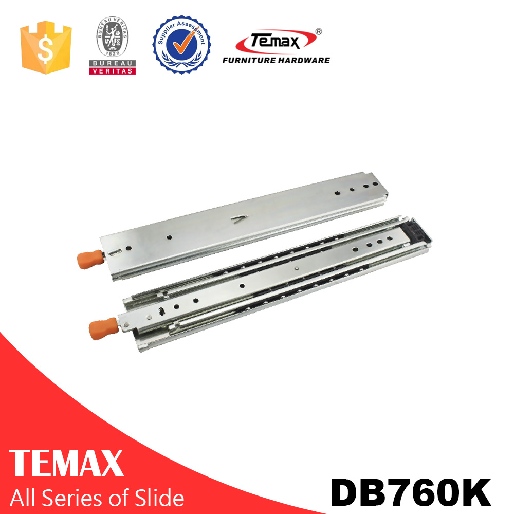 DB760K 76MM Self Lock Drawer Slide