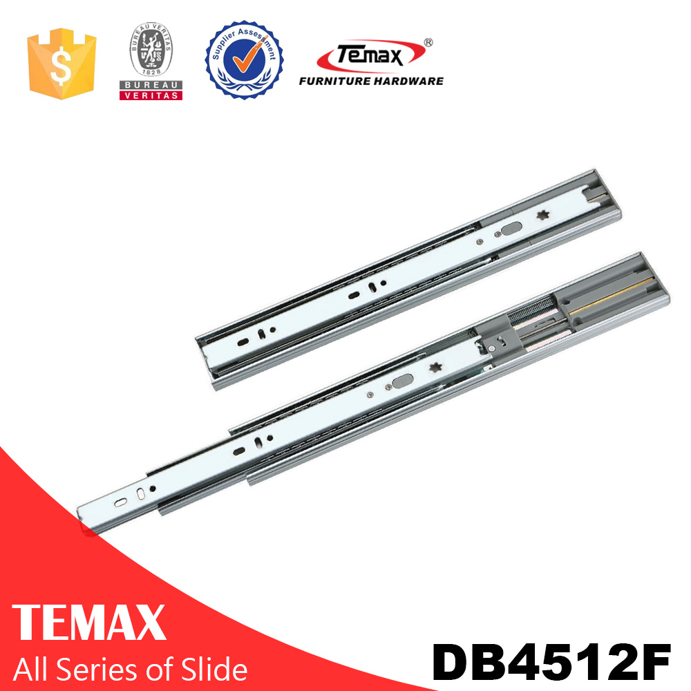 Decorative ball bearing drawer runner for microwave oven
