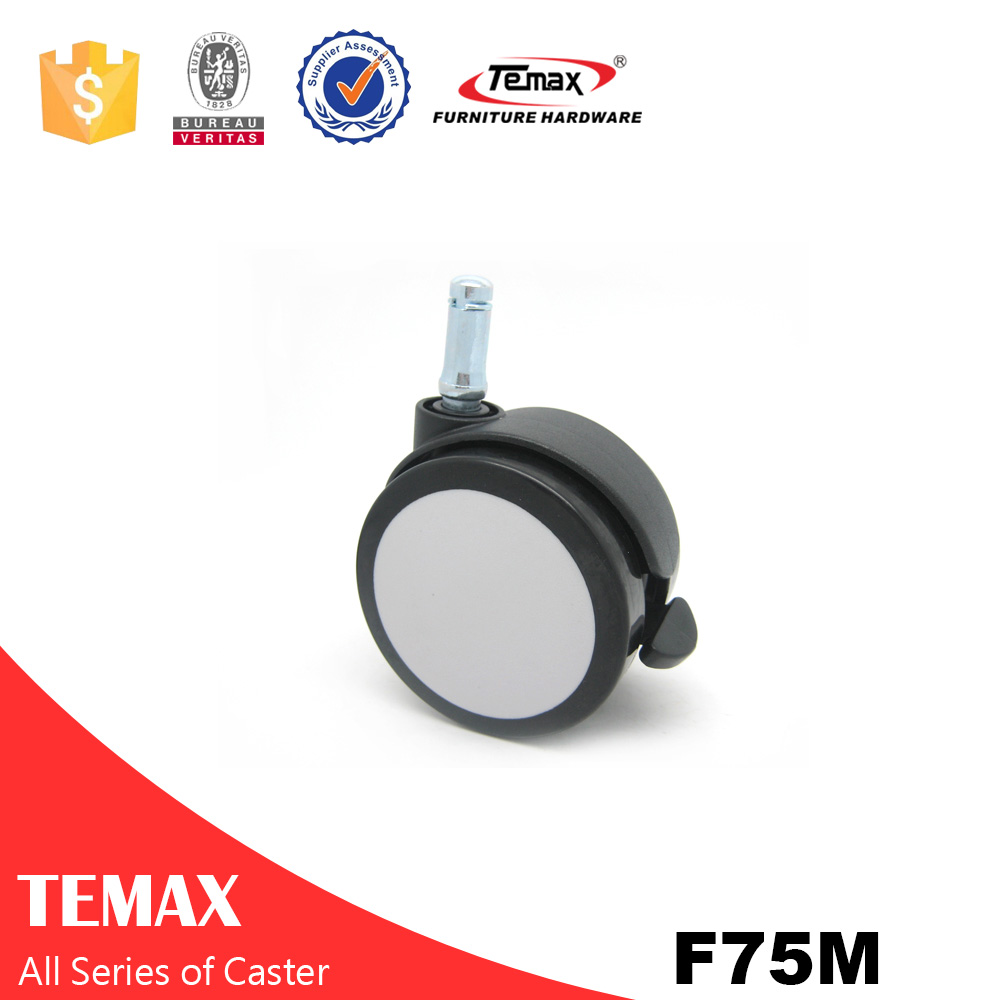 F75M Small brass caster wheels