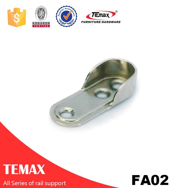 FA02 Wholesale nickel furniture Wardrobe support rail