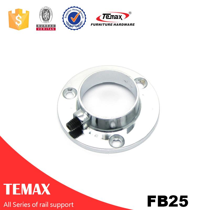 FB25 Dia 25mm  round chrome and nickel furniture Wardrobe support rail
