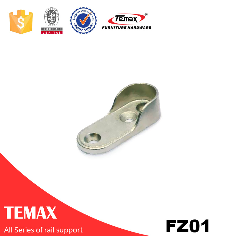 FZ01  Zinc alloy nickel furniture Wardrobe Clothes Rail support