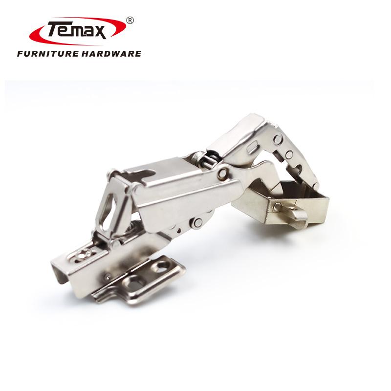 Fixed Plate Small Angle Buffering 165 Degree Hydraulic Aluminum Frame Door Hinge HB2095 Temax Hardware