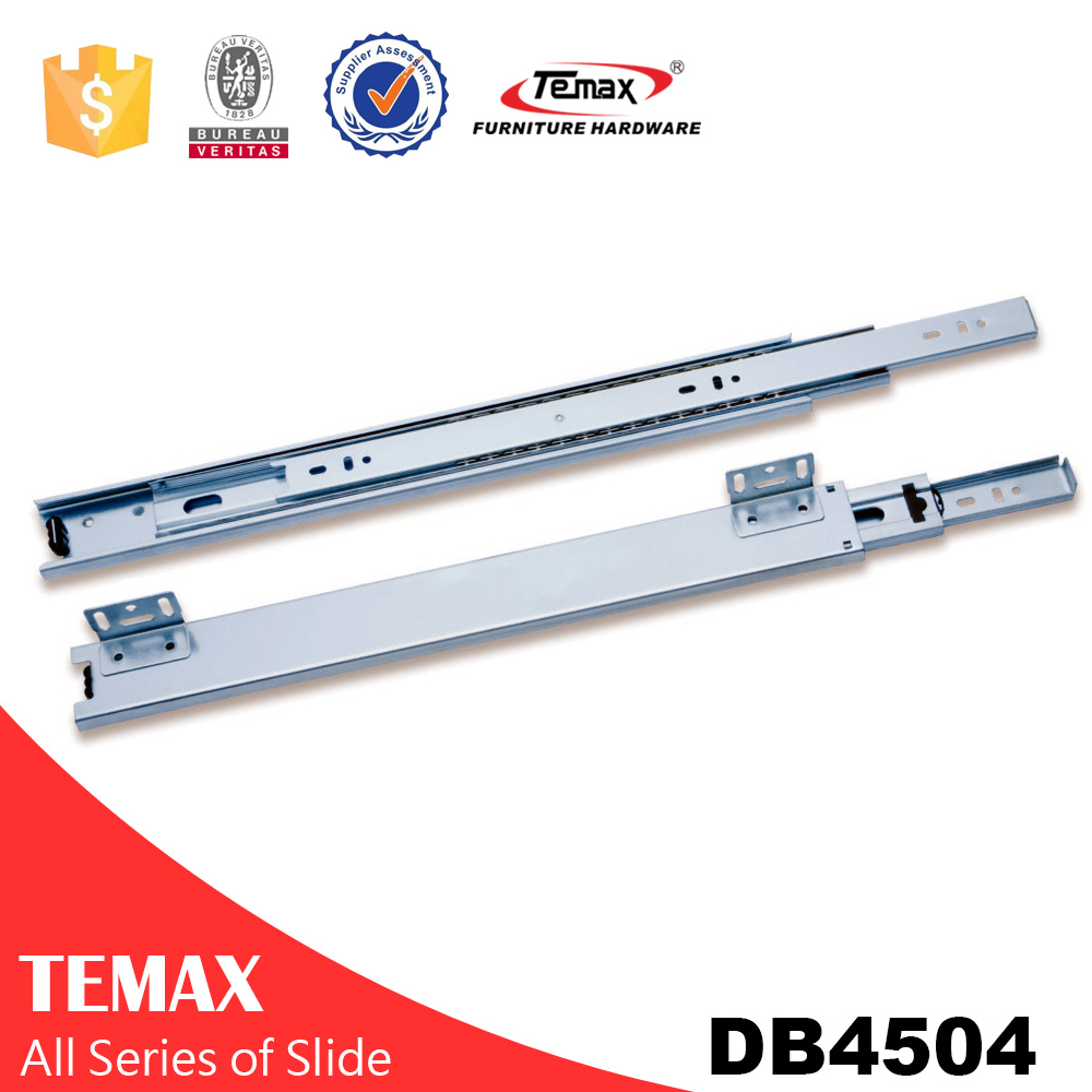 Furinture fittings full extension telescopic drawer slide
