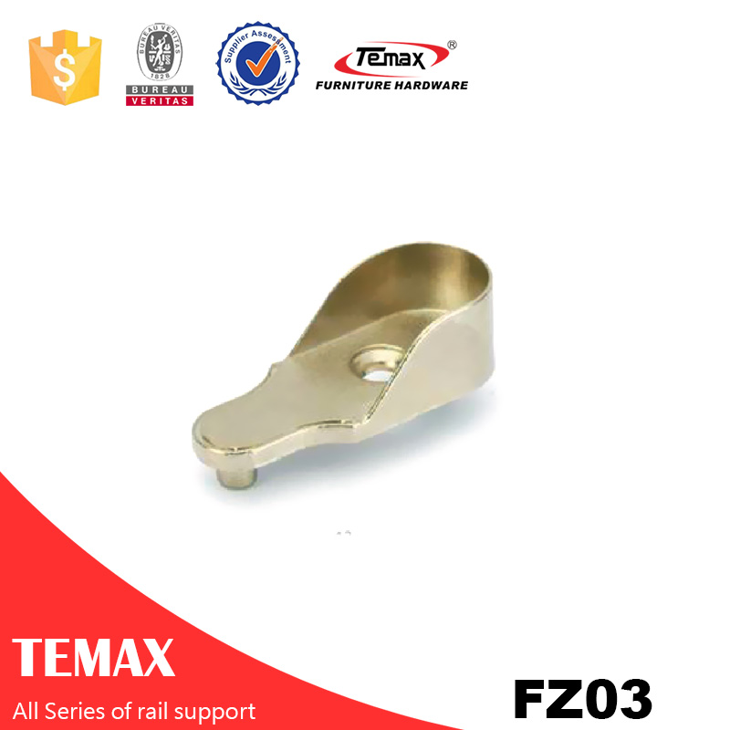FZ03 Zinc alloy nickel furniture Wardrobe tube rail support