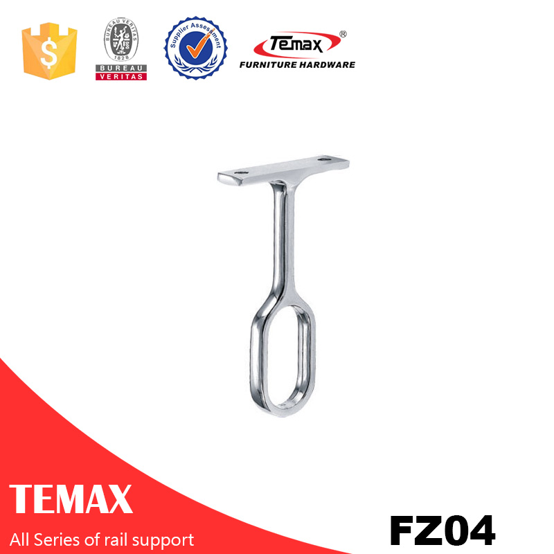 FZ04 Zinc alloy nickel furniture Wardrobe tube rail support
