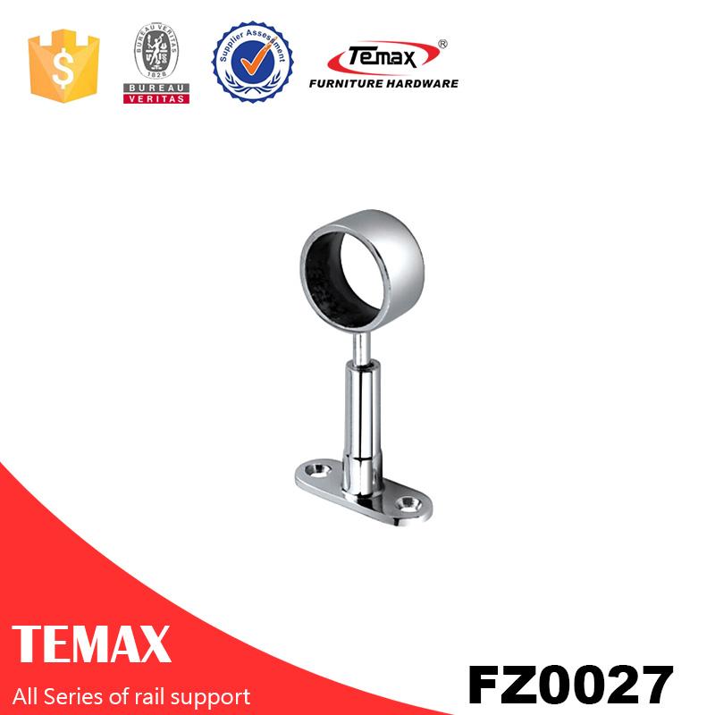 FZ27 Temax  Bed room fittings Zinc alloy chrome furniture wardrobe aluminium support rail