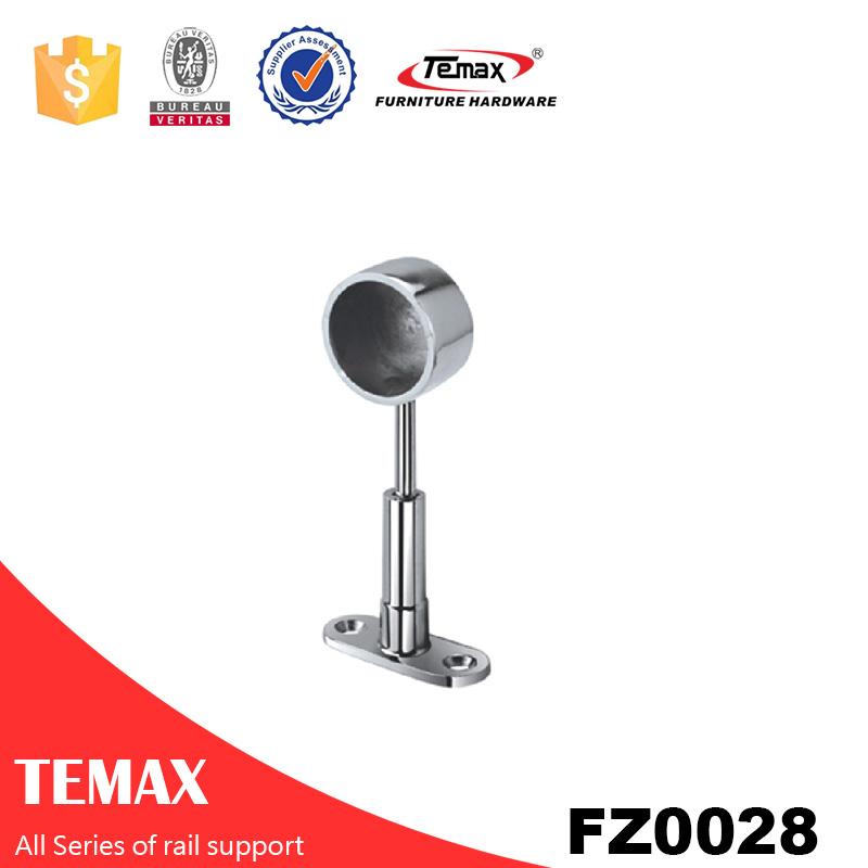 FZ28  Bed room fittings Aluminium chrome furniture wardrobe rail support