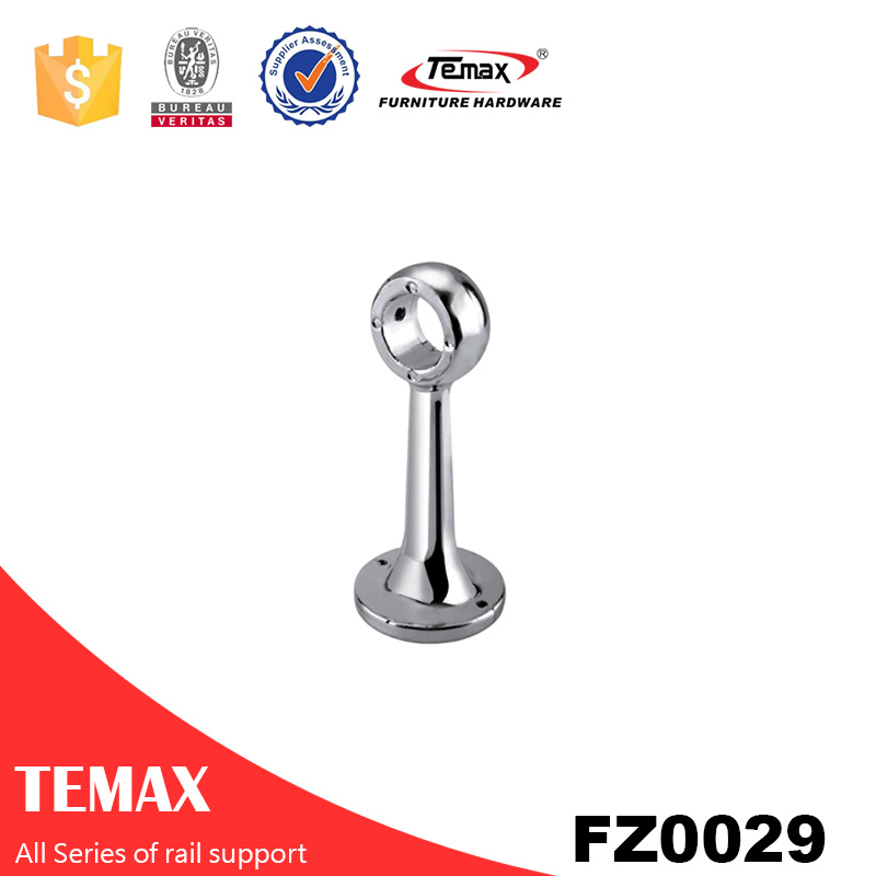 FZ29 Bed room fittings Aluminium chrome garderobe wardrobe rail support