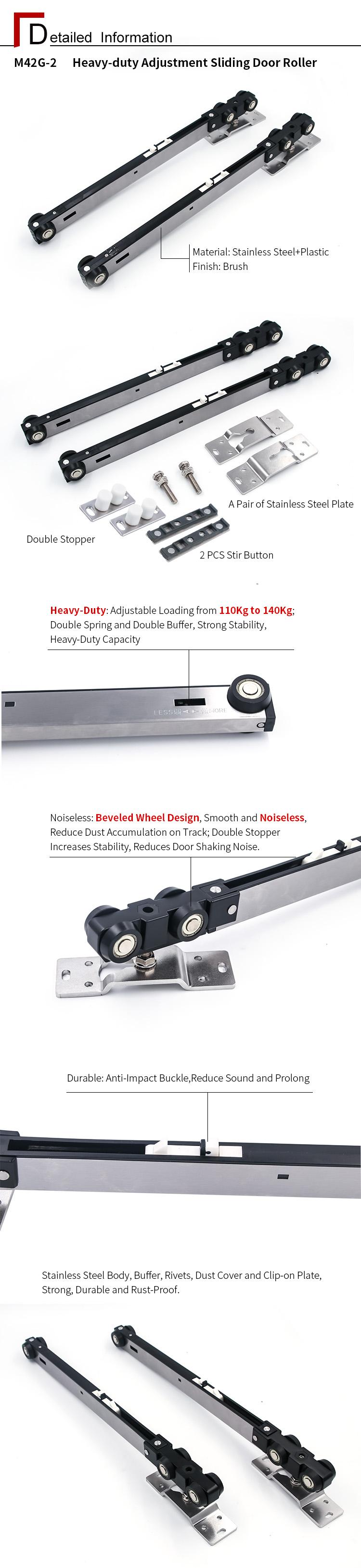 Heavy-duty Adjustment Sliding Door Roller
