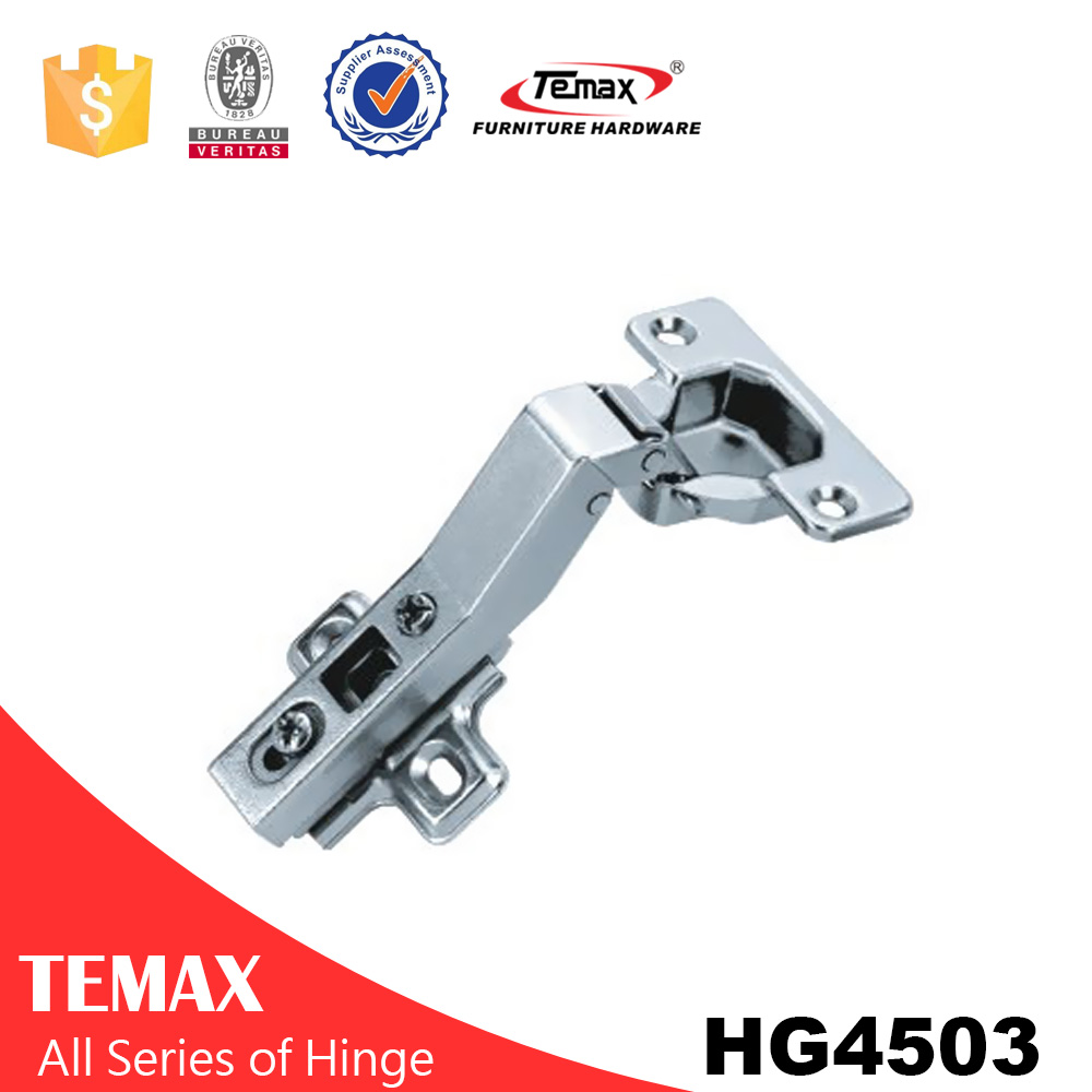 HG4503 45 graus ângulo de liga de zinco armário de braço dobradiça angular