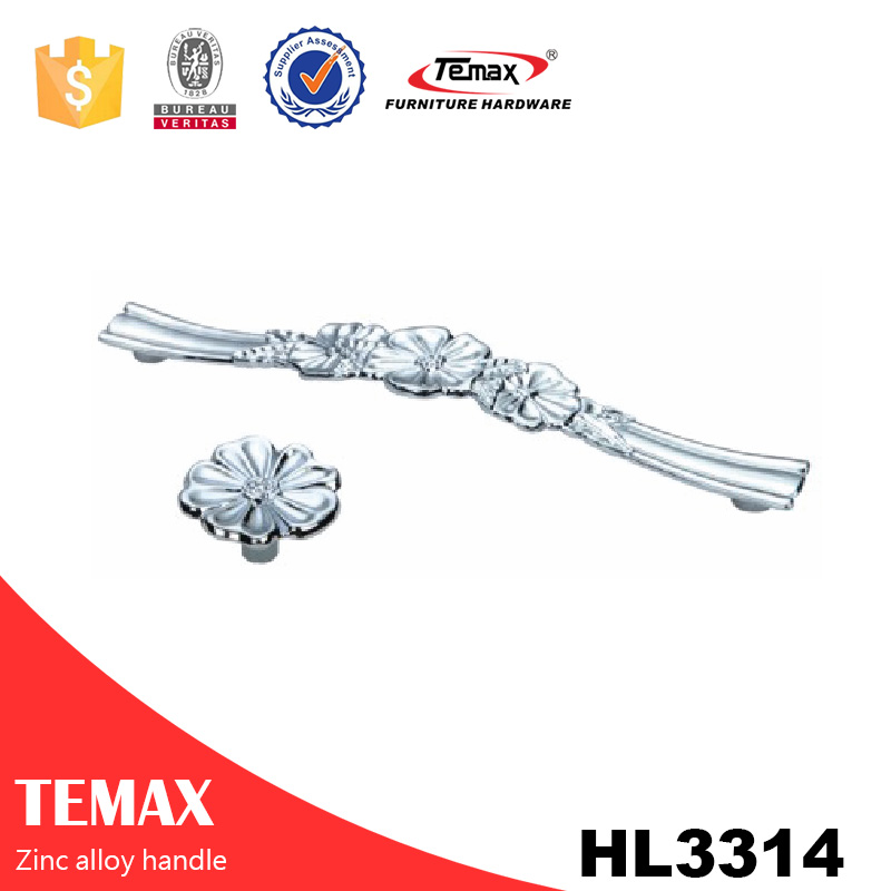 HL3314 ceramica & zinco maniglie per mobili antichi