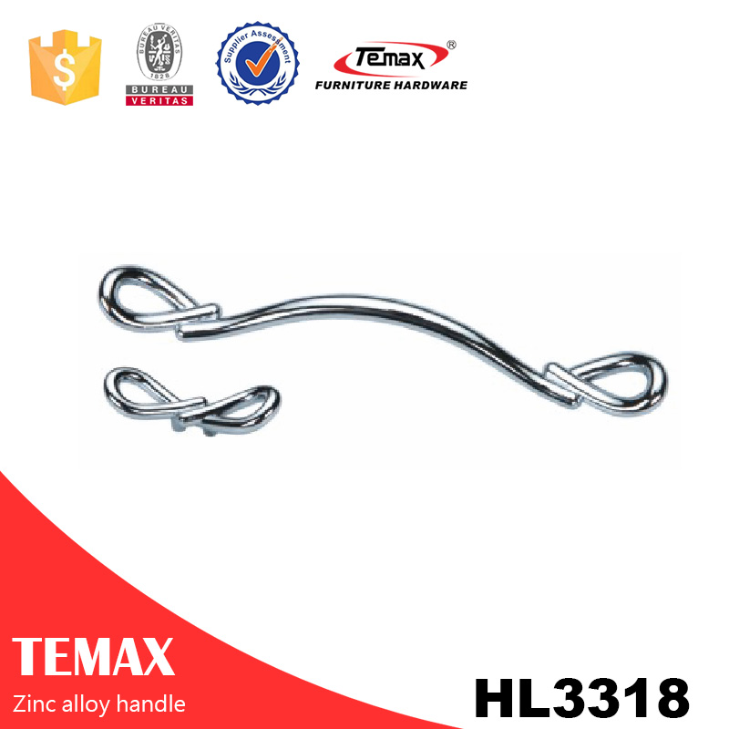 HL3318 Temax modern zinc door handle for drawer