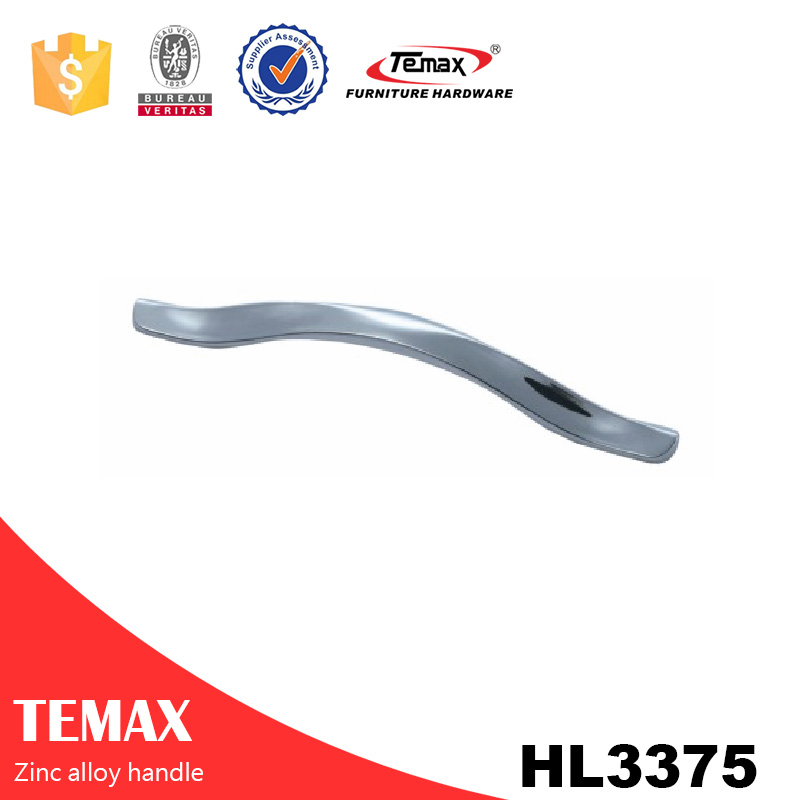 HL3375 cheap Door Handles Zinc Steel Finish