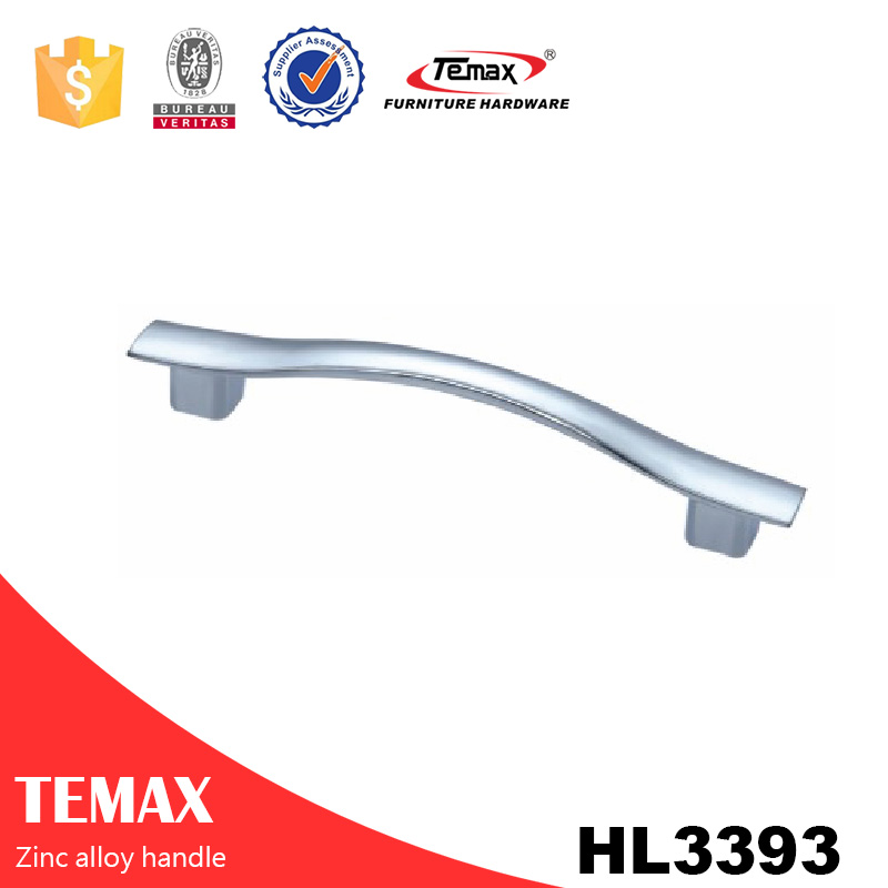 HL3393 high quality zinc furniture wardrobe handle