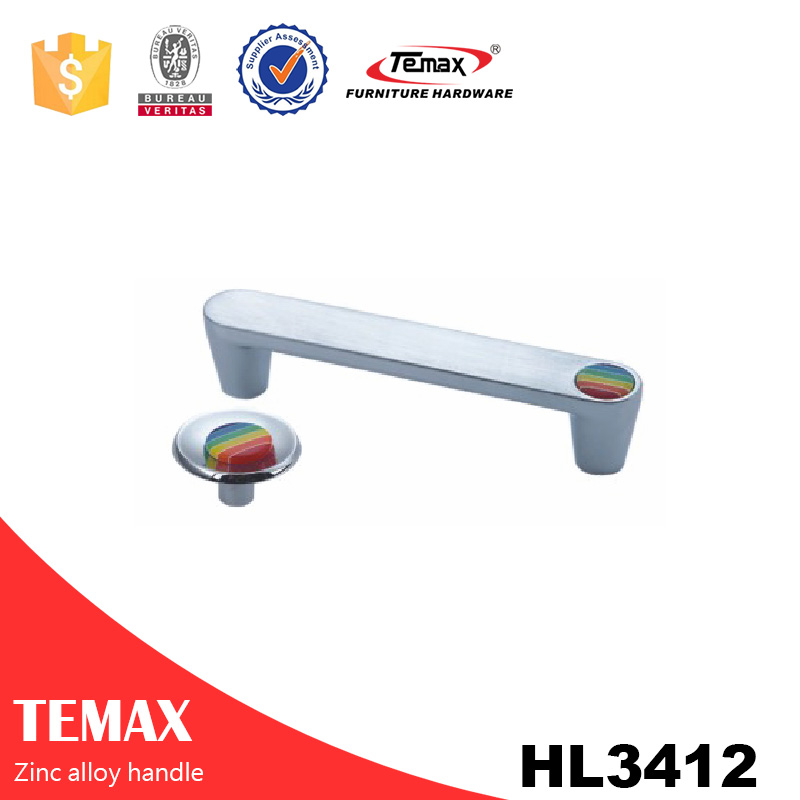 HL3412 2016 zinc office double door handle