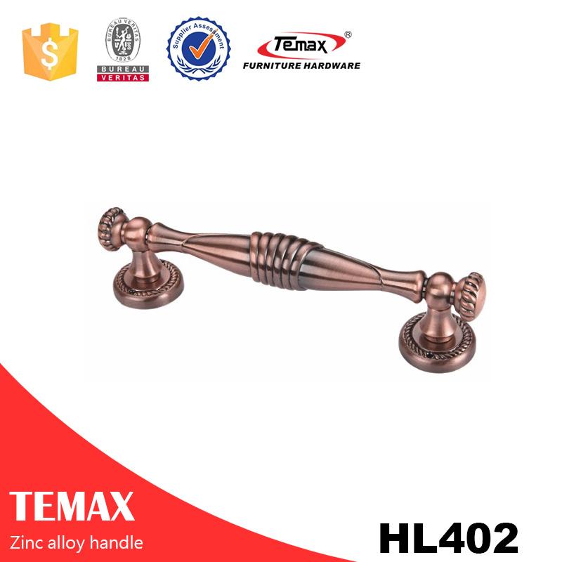 HL402 Temax الباب فريد مقابض الأثاث المقابض سبائك الزنك غرفة نوم