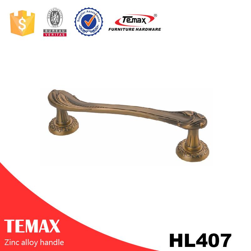 HL407 Zinklegierung Kleiderschrank Pull Griffe