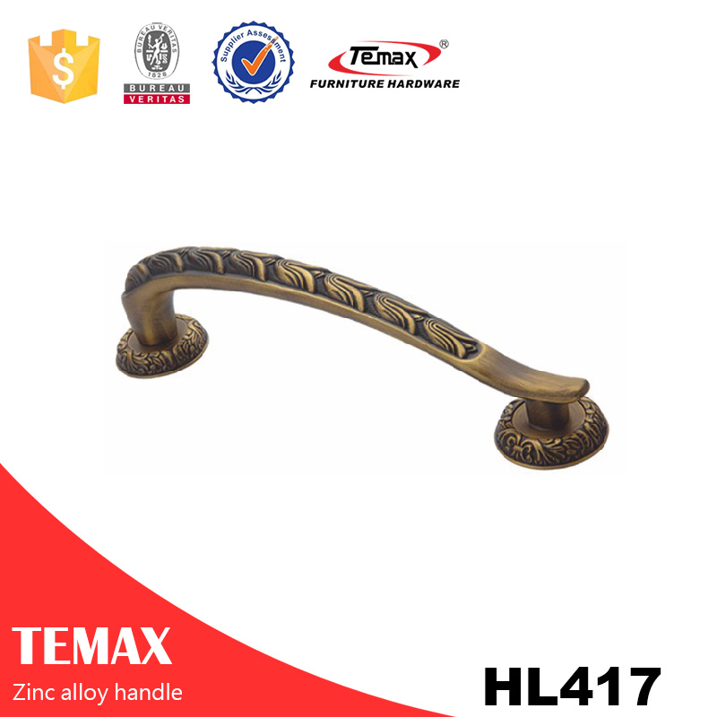 HL417 Stable quality zinc handle for furniture