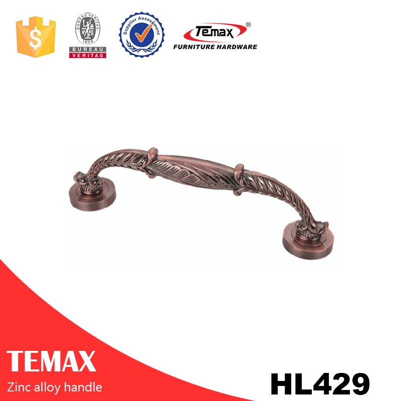 HL429 simple design ceramic & zinc handles for antique furniture