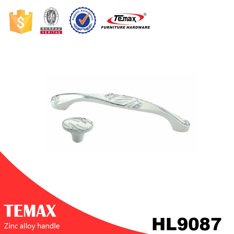 HL9087 high quality zinc embedded cabinet door pull handle