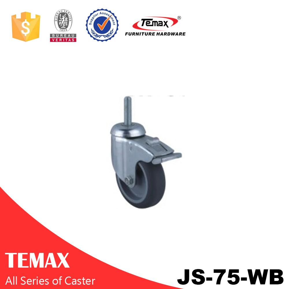 JS-75-WB castor wheel with brake