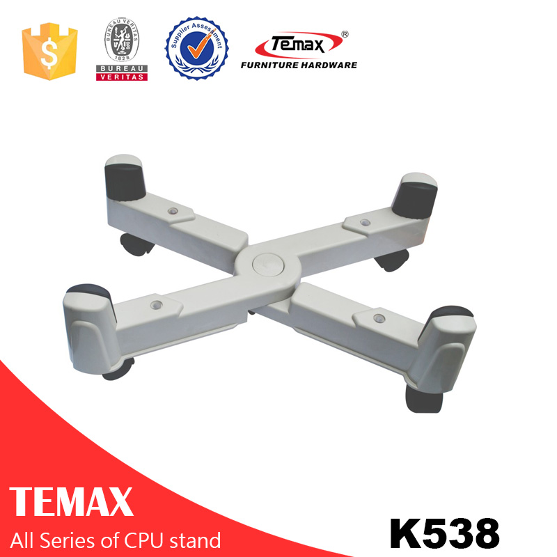 K538 high quality CPU STAND with casters (adjustable)