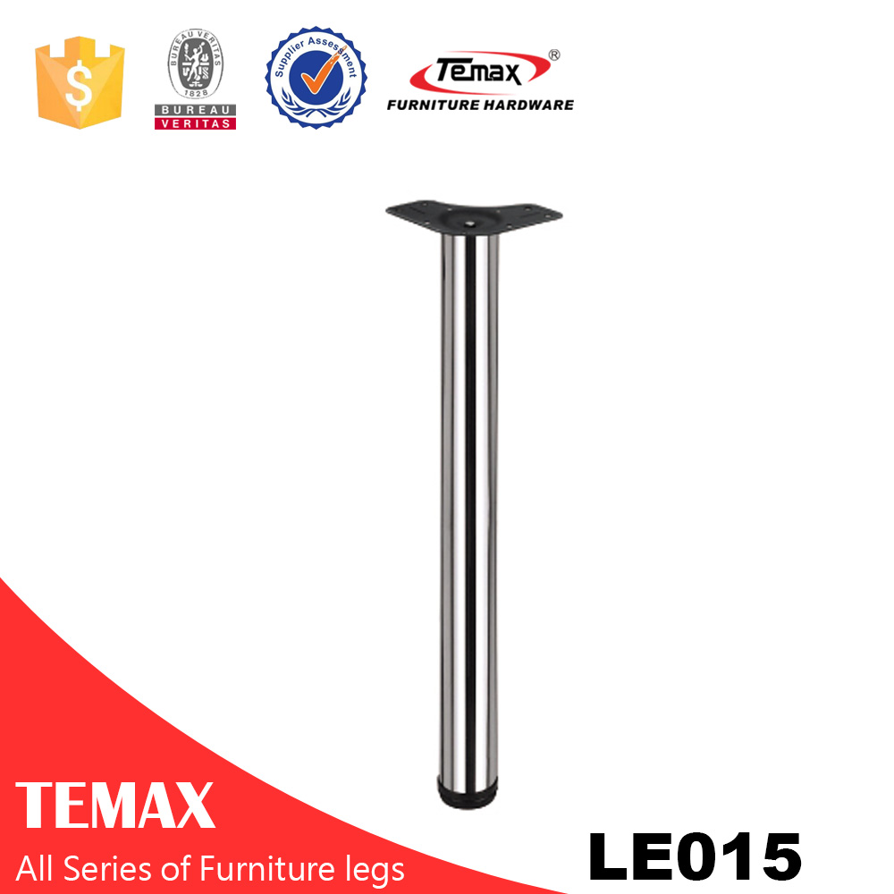 LE015 Dia 60mm match moon shape plate furniture steel table leg