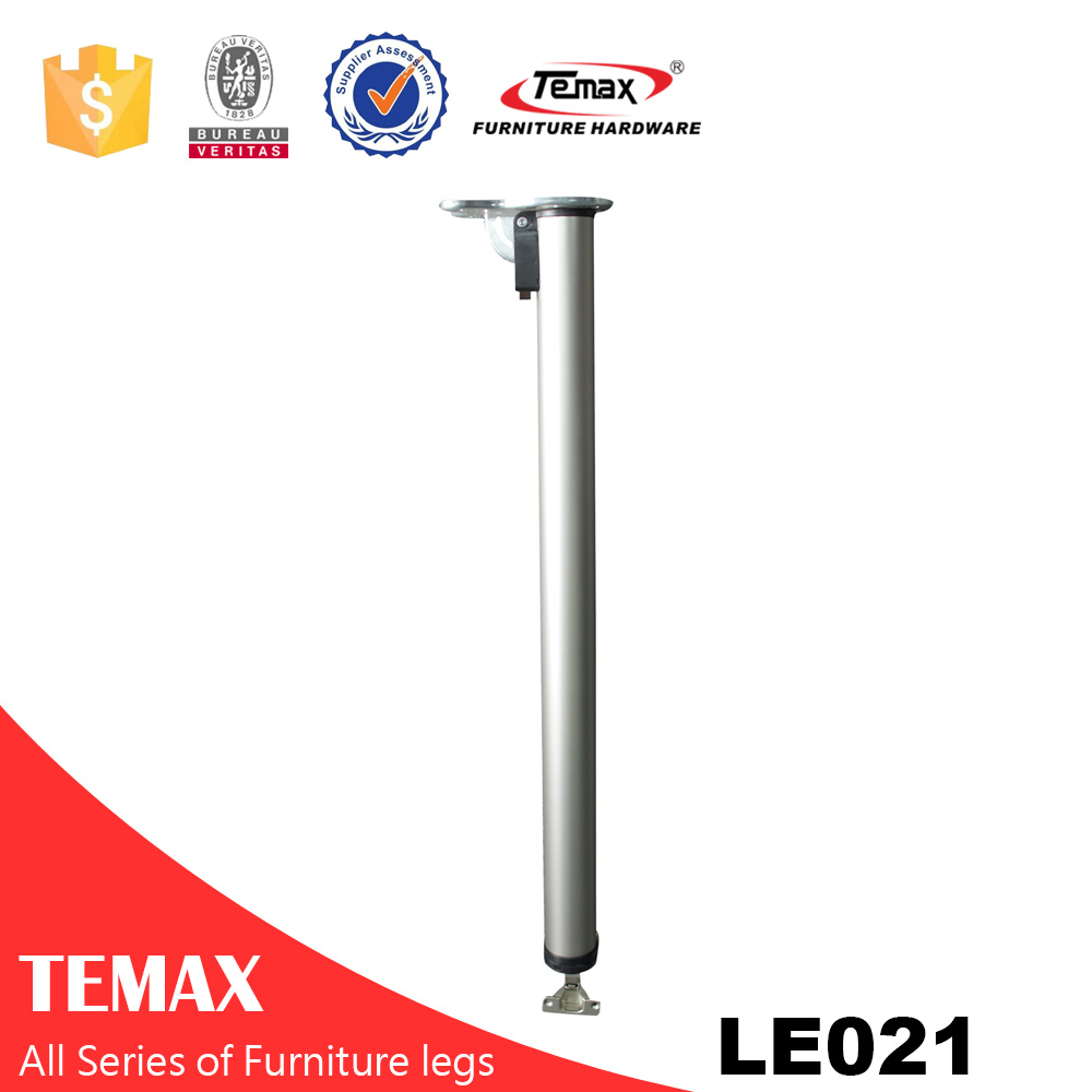 LE021 white Dia 60mm mirror furniture adjustable table leg