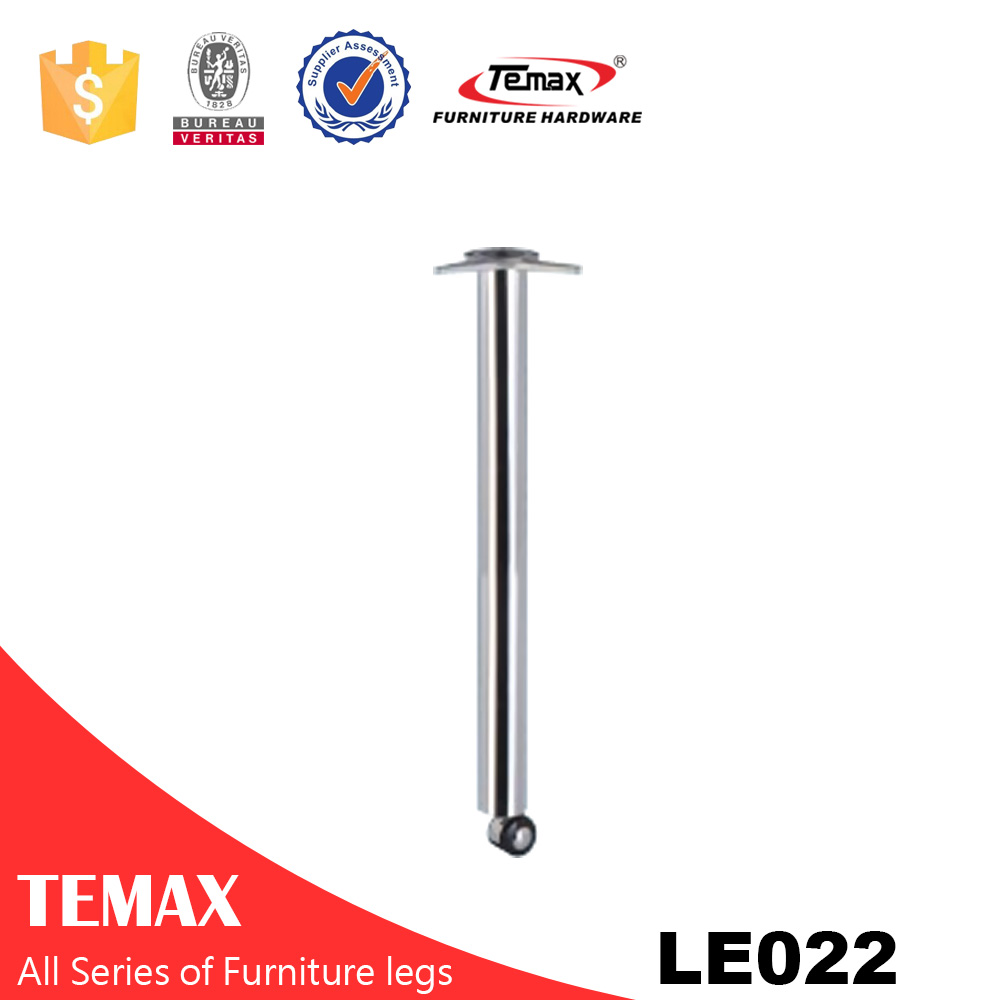 LE022 mirror dia 60mm with wheels furniture table leg