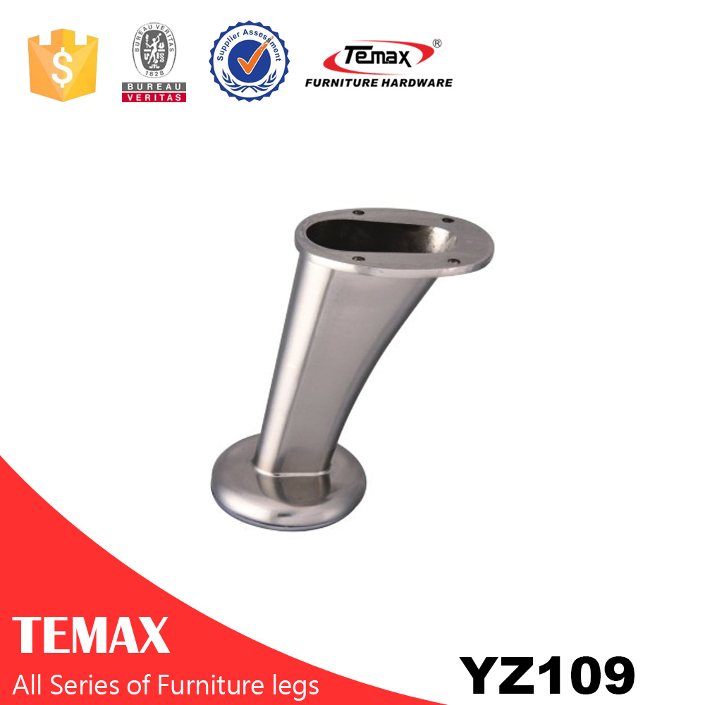 YZ109 high quality brushed nickel furniture sofa leg