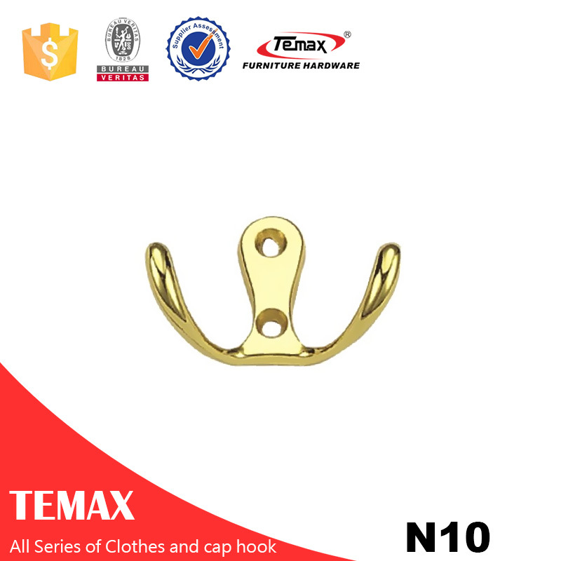 N10 different shape good quality  gold color Zinc alloy hook