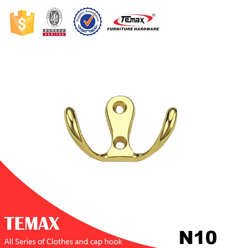 N10 andere Form gute Qualität Farbe Gold-Zink-Legierung Haken