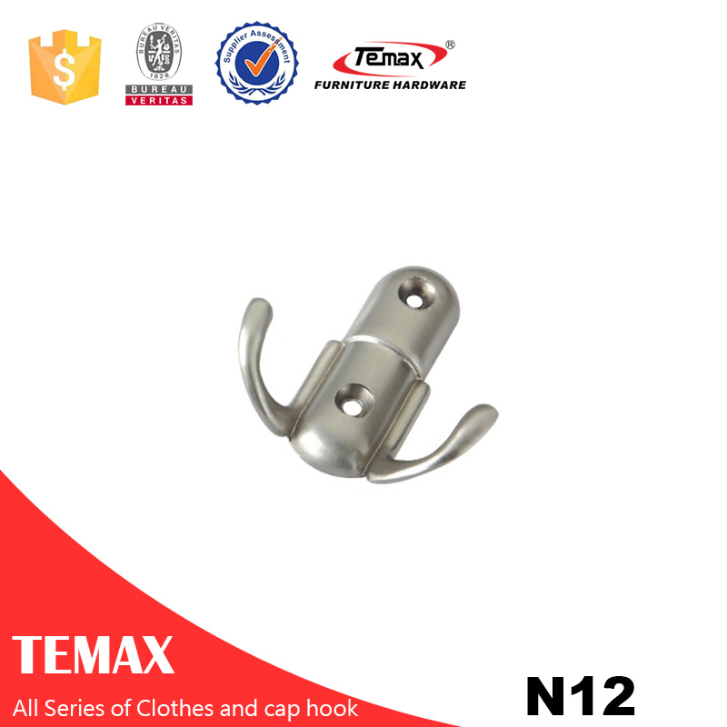 N12 Temax cloths  Zinc alloy cap hook