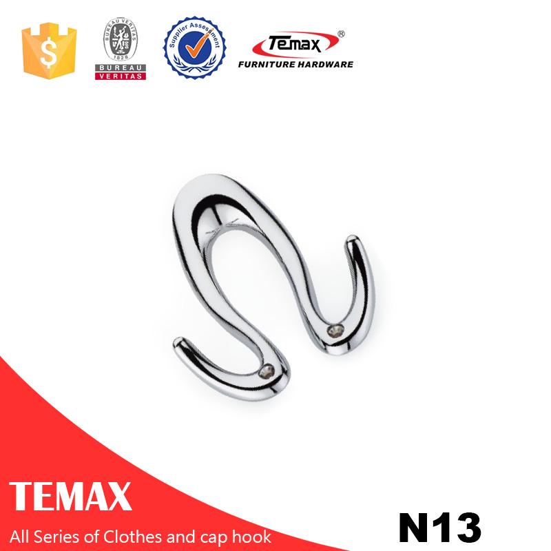 N13 Temax beste heiße Verkauf Tüchern Zinklegierung Kappe Haken