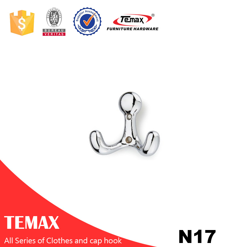 N17 Temax nickel Zinc alloy clothes cap hook