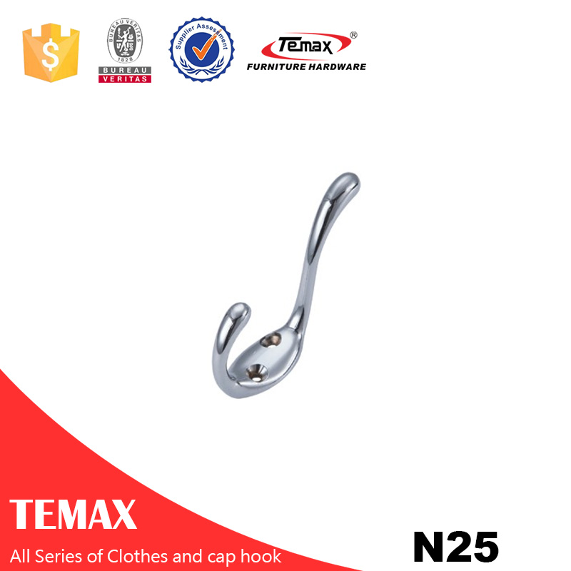 N25 Temax hot chrome color  Zinc alloy clothes hook